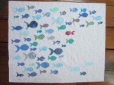 Raw Edge Fish Quilt by Towerhouse Quilts