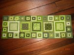 Modern Green Tablerunner - Sold
