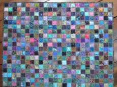 40 x 51 Raw Edge Batik Quilt by Towerhouse Quilts