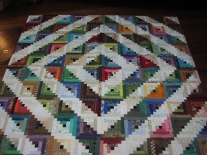 Scrappy Log Cabin Quilt designed by Lisa Bee-Wilson