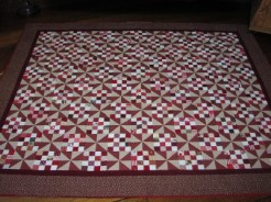 Lisa Bee-Wilson Red Antiqued Quilt