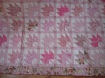 Pink Leaves Rescue Quilt for Pat