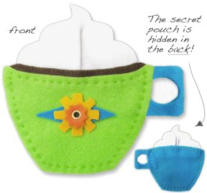 BeeModern Felt Coffee Cup - Green