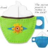 BeeModern green coffee cup