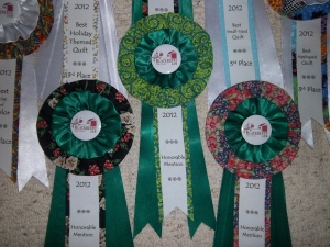 2012 Blackberry Jam Award Ribbons for Quilt Show