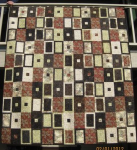 2012 Blackberry Jam Raffle Quilt - Tranquil Forest Pattern by Lisa Bee-Wilson