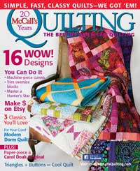 McCall's Quilting Magazine Cover Quilt by Lisa Bee-Wilson