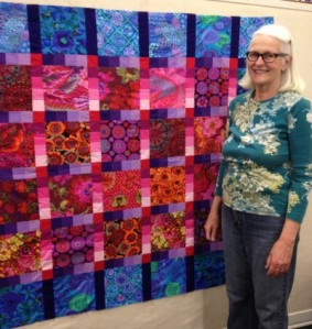 Michelles Garden Gradation Quilt Top 2013