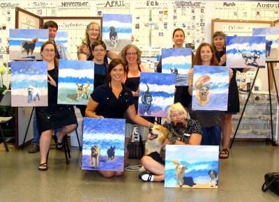 Official Beach Dog Class Photo