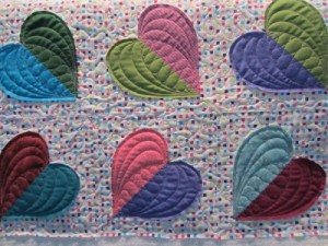 Marlene K's baby quilt from Pine Needlers