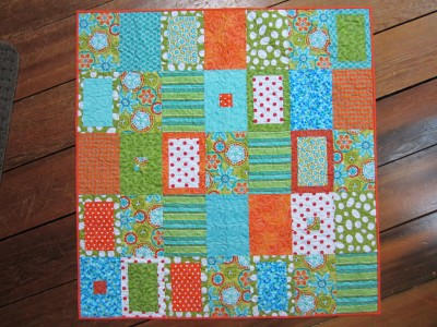 Baby quilt made from my Tranquil Forest pattern