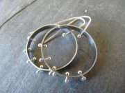 Moon Silver STudio Earrings