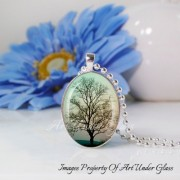 Art Under Glass Tree Pendant