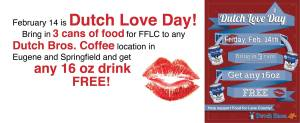 Food for Lane County & Dutch Bros Coffee
