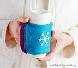 Upcycled Sweater Coffee Cozy