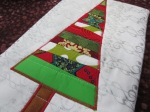 Satin stitch around the tree