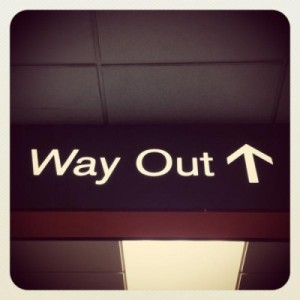 New Zealand Way OUt Sign