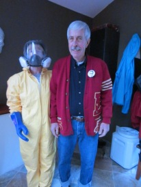 Letter Sweater Guy and Hazmat Wife?